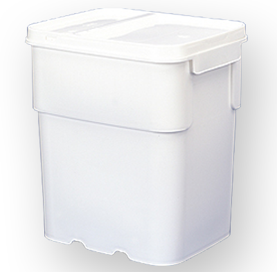 13 gallon square bucket, Human Rights water allocation for sanitation, drinking, washing